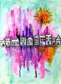 skorpionens rede: Guest Designer Scraps & Pieces - art journal watercolors