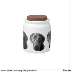 Shop Sweet Black Lab Candy Jar created by Bretsuki. Black Labrador Retriever, Custom Candy, Having A Blast, Hunting Dogs, Hard Candy, Candy Jars, Elephant Gifts, White Porcelain, Art Pieces