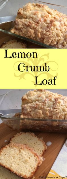 Lemon Crumb Loaf a fresh pop of lemon, crumbly topping and glaze ...