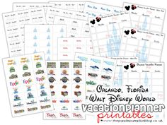 Awesome #Disney #Vacation Planner!  Free #Printables!!  Perfect for planning your days and weeks at Walt Disney World!