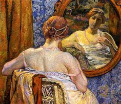 Theo Van Rysselberghe, Woman in a Mirror, 1907