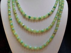 Necklace 3 Strands of  Various Shades of  by AprilSnowJewelry, $16.00