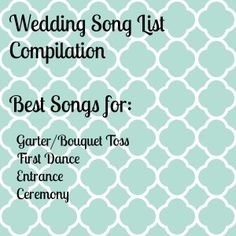 Wedding Song List Compilation