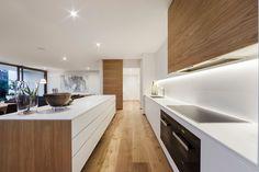 I like the white and natural wood kitchen combo 42 Meek Street Brighton - Marshall White