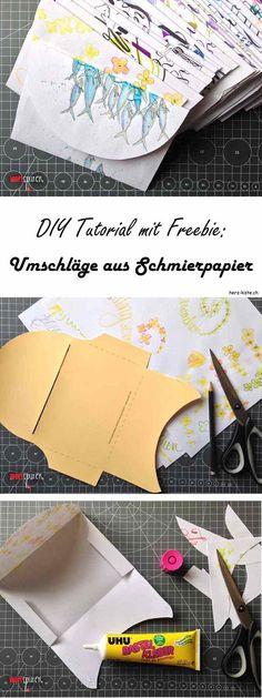 Eine Einfache DIY Anleitung Mit Gratis Printable: Wie Du Aus Deinem  Schmierpapier Wunderschöne Briefumschläge Basteln