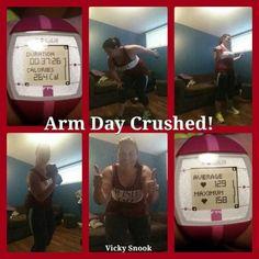 #CrushedArmDay!