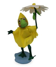 Puddle Jumper Frog Felt Figurine