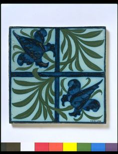 Hand-painted tiles became a popular feature of artistic interiors from the 1860s onwards. Such tiles regularly appear in houses decorated in the Arts and Crafts style, and were used widely by exponents of vernacular architecture such as Richard Norman Shaw (1831-1912). The most common setting for such tiles was in and around the fireplace.