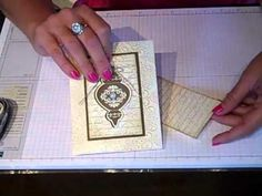 Another video in the FLASH CARD series.  This video will show you how to manipulate those 2 little pieces of cardstock into an elegant vintage Christmas card using the Stampin Up framelits and the Ornament Keepsake stamp set!  I love hearing your comments and your thoughts on this series!  Thanks for watching!  Check out www.simplysimplestampin...