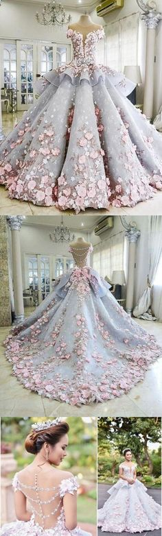 Ball gown wedding dresses with Cathedral Train, Dresses,Quinceanera Dresses,#fashion #sweet16 #promdress