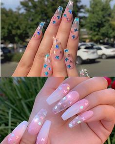 In look for some nail designs and some ideas for your nails? Here is our listing of must-try coffin acrylic nails for fashionable women. Aycrlic Nails, Swag Nails, Hair And Nails, Blush Nails, Grunge Nails, Manicures, Coffin Nails, Summer Acrylic Nails, Cute Acrylic Nails