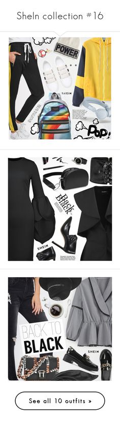 """""""SheIn collection #16"""" by pokadoll ❤ liked on Polyvore featuring Versace, Marc Jacobs, Moschino, Goen.J, Jimmy Choo, MAC Cosmetics, Eyeko, Bobbi Brown Cosmetics, Proenza Schouler and Maison Michel"""