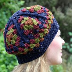 CROCHET: GRANNY TRIANGLES HAT (PATTERN) download UK