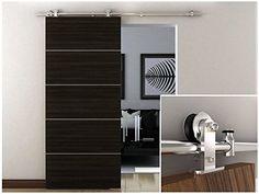 Amazon.com: TMS TYS2503B-SS Interior Modern Sliding Barn Wood Door Hardware Track Set, Stainless Steel: Home Improvement