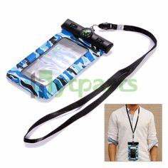 20m underwater waterpfoof pouch bag case for iPhone 5s 5c 5 Comes with a neck lanyard for comfortable carrying by your arm or neck