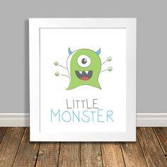 New to HappyHippoArts on Etsy: Little Monster Printable Art Green Monster Art Kids Room Art Kids Art Wall Poster Nursery Art Print Digital Download - 8x10 11x14 (6.75 CAD)