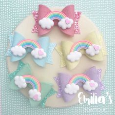 Excited to share this item from my shop: Pastel Rainbow Hair Bow, Pastel Bow, Rainbow Bow, Girls Hairbow, Baby Headband Pastel Rainbow Hair, Rainbow Bow, Making Hair Bows, Diy Hair Bows, Ribbon Hair, Baby Headbands, Headband Hair, Headbands For Girls, Girls Hair Clips