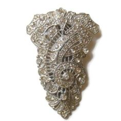 Vintage Art Deco Rhinestone Dress Fur Clip Brooch | eBay