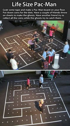 Funny pictures about Life Size Pac-Man Idea. Oh, and cool pics about Life Size Pac-Man Idea. Also, Life Size Pac-Man Idea photos. Fun Group Games, Fun Games, Party Games, Awesome Games, Large Group Games For Teens, Fun Sports Games, Pep Rally Games, Relay Games, Family Games