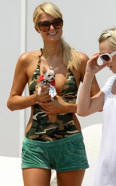 Paris Hilton - celebrities and their dogs