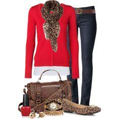 Red, Denim & Leopard