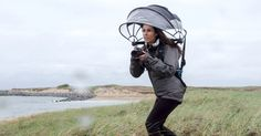 Nubrella is an innovative new umbrella that could come in handy for photographers shooting in the rain. It's a hands-free, wind-resistant design that can k