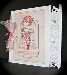 Card Gallery - Pink Baubles & Snow Scene Arched Window Mini Kit
