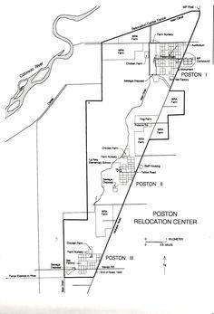 map of poston camp