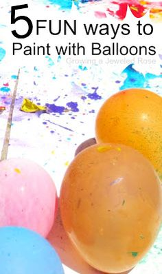 5 super FUN Ways to Paint with Balloons- Balloon POP painting punch painting water balloon painting squirt painting and MORE! - Water Balloons - Ideas of Water Balloons Educational Activities For Kids, Art Activities, Summer Activities, Outdoor Activities, Ballon Painting, Painting With Balloons, Paint Balloons, Painting For Kids, Art For Kids