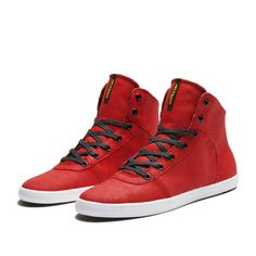 SUPRA CUTTLER Shoe | RED - WHITE | Official SUPRA Footwear Site