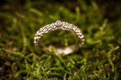 Engagement ring with diamond. #engagementring #texturedring     Sužadėtuvių žiedas su briliantu.