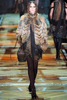 Roberto Cavalli Fall 2011 Ready-to-Wear Fashion Show - Mariacarla Boscono