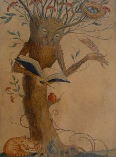 The always delightful Charles van Sandwyk - Tree Scribe