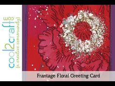 In this video, Fran Seiford shares how to use her Frantage Encrusted Jewels and Stampendous Jumbo Floral Stamp. Filmed in Stampendous booth at CHA W '13.