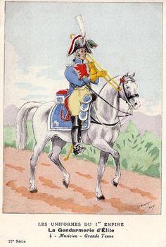 French; Imperial Guard, Gendarmes d'Elite, Musician, Grande Tenue