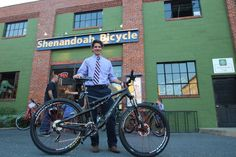 Andrew Seefried and his new Rumblefish. Looks like he got dressed up for the occasion. :)