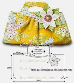 Summer bags with their own hands - a pattern Fabric Purses, Fabric Bags, Patchwork Bags, Quilted Bag, Bag Quilt, Diy Sac, Handbag Patterns, Craft Bags, Cloth Bags