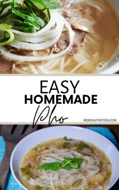 Pho Soup Recipe Easy, Healthy Soup Recipes, Pho Soup Recipe Vegetarian, Cooking Recipes, Easy Shrimp Pho Recipe, Gluten Free Pho Recipe, Crock Pot Pho Recipe, Instant Pot Dinner Recipes, Quick Dinner Recipes