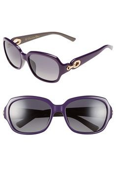 Christian Dior 56mm Polarized Sunglasses