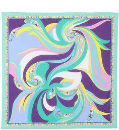 Emilio Pucci Beach Printed cotton scarf Psychedelic Pattern, Beach Print, Scarf Design, Cotton Scarf, Silk Painting, Emilio Pucci, Portfolio Design, Art Inspo, Printed Cotton