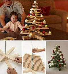 Christmas is always awaited everyone, not least kids. What is amazing from Christmas? A Christmas tree seems to be a Christmas decoration that must exist in every home Wooden Christmas Trees, Noel Christmas, Winter Christmas, Christmas Decorations, Christmas Ornaments, Xmas Tree, Wooden Tree, Chrismas Tree Diy, Tree Decorations