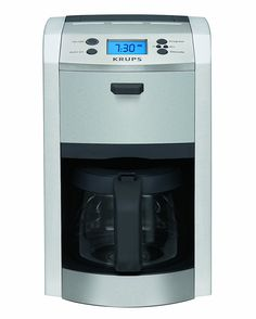 KRUPS KM8105 12-Cup Die-Cast Programmable Coffee Maker with Stainless Steel Housing, Silver ** Remarkable product available now. : Coffee Maker
