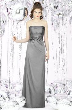 34e6bbcc08b  Grey Full Length Straight Straples Bridesmaid Dress G269 grey dress   2dayslook  greyfashion www