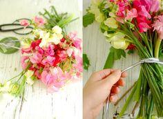 Les fleurs du mois d'août {Pois de senteur}