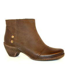 Look at this #zulilyfind! Texano Nero Leather Ankle Boot #zulilyfinds