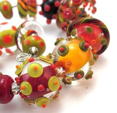 FALL FEST LAMPWORK BEAD SET