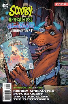 Get a sneak peek at Scooby Apocalypse, Future Quest, Wacky Raceland and The Flintstones with this amazing preview book! See what happens when Scooby-Doo and the Hanna-Barbera properties you know and love are paired with the best creators in comics, taking them to fresh and unexpected places that will appeal to old and new fans alike. Expect fun, innovative twists and stories injected with current sensibilities, that are sure to excite fans of any age!