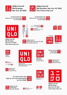 Sometimes a brand identity must be adapted for different languages and cultures (in this case, Uniqlo). Typography Logo, Typography Design, Logo Branding, Corporate Identity Design, Graphic Design Branding, Brand Identity, Inspiration Logo Design, Crea Design, Japan Logo