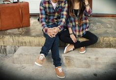 We could do matching plaid shirts