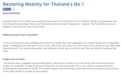 Restoring Mobility for Thailand's No.1
